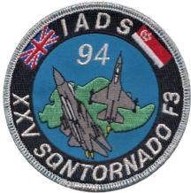No. XXV (25) Squadron Royal Air Force RAF Panavia Tornado IADS Singapore 1994 Embroidered Patch